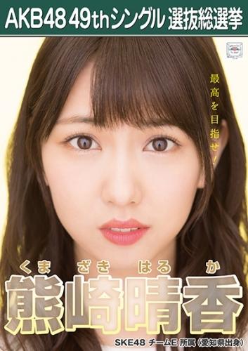 熊崎晴香_AKB48 49thシングル選抜総選挙ポスター画像