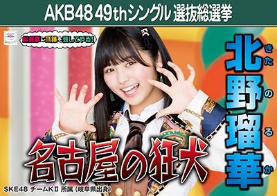 北野瑠華_AKB48 49thシングル選抜総選挙ポスター画像