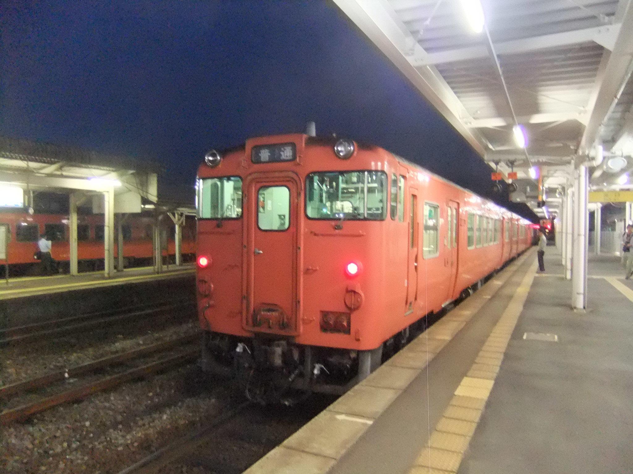 キハ47三次駅にて