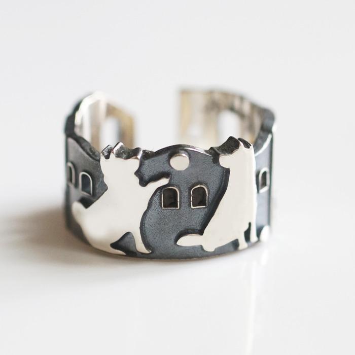 NEW☆2匹の犬のリング