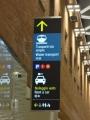 空港内の表示