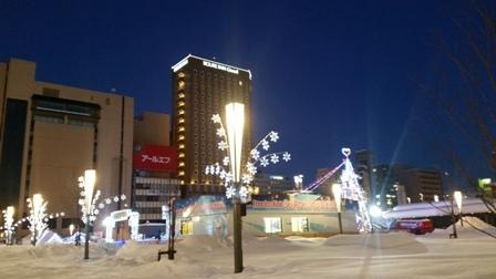旭川駅前夜景