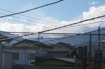 南アも雲の屏風に消え