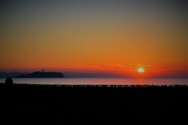 2018サザンビーチ茅ヶ崎で初日の出(2)