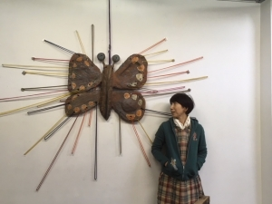 壁の蝶とS