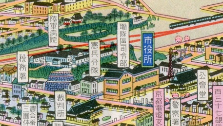 福知山鳥瞰図拡大1