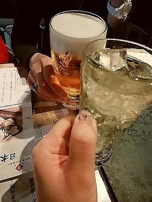 ロッキーホラーショー 日本酒原価酒造 乾杯