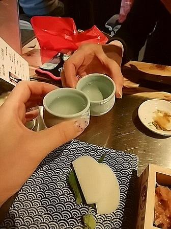 ロッキーホラーショー 日本酒原価酒造 日本酒乾杯
