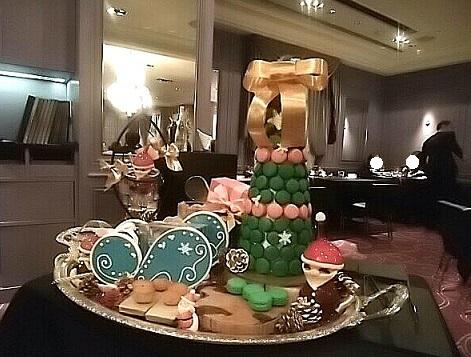 2017ロブション忘年会 小菓子ワゴン