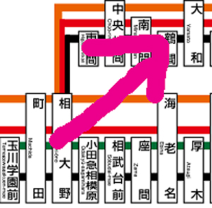 町田→大和