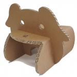 ダンボール家具幼児用椅子キッズチェア「フレンズ」わんこ