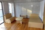 賃貸住宅の空き部屋に置くダンボール家具セット「モテ・ルーム」