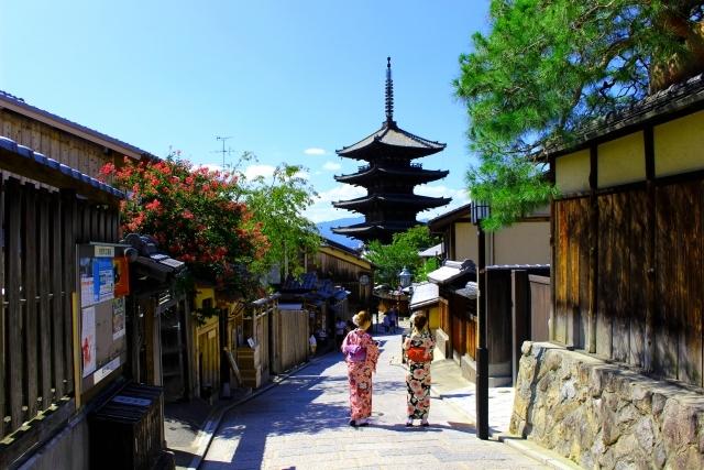 京都と着物美女