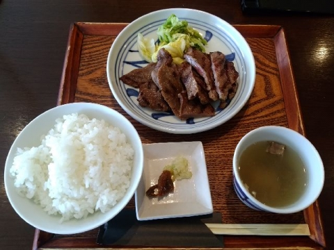 旧軽井沢食堂・H28・10 熟成牛タン定食