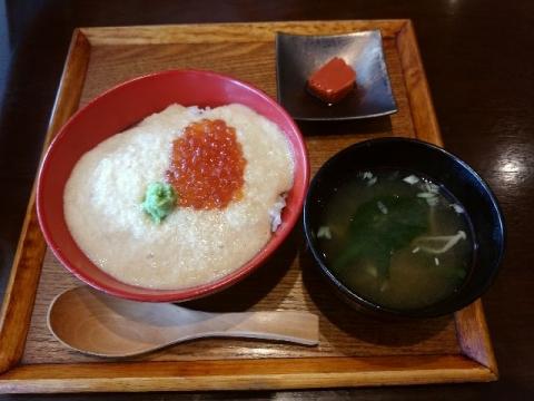 旧軽井沢食堂・H28・10 いくらかけ麦とろごはん