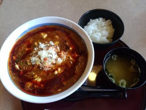 三宝三条店・H29・10 全とろ麻婆麺 半ライス