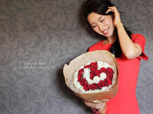 ハート かわいい 花束 バラ 誕生日 サプライズ プロポーズ 成功