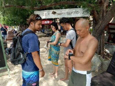 タオ島 アドバンス講習 コンパスナビ