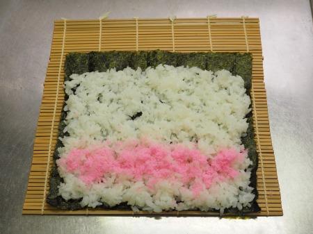 市販の具材で巻き寿司033