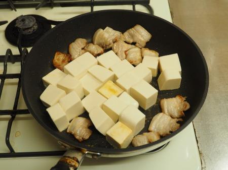豚バラと豆腐のねぎ味噌炒め041
