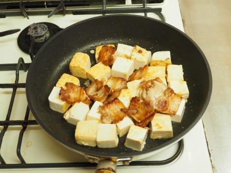 豚バラと豆腐のねぎ味噌炒め043