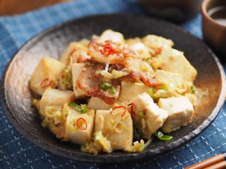 豚バラと豆腐のねぎ味噌炒め014