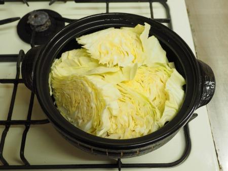 キャベツと豚肉のクリーム鍋046