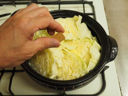 キャベツと豚肉のクリーム鍋047