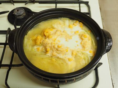 キャベツと豚肉のクリーム鍋054