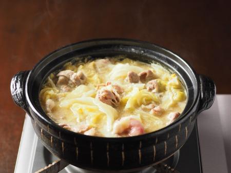 キャベツと豚肉のクリーム鍋004