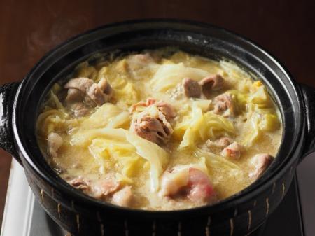 キャベツと豚肉のクリーム鍋005
