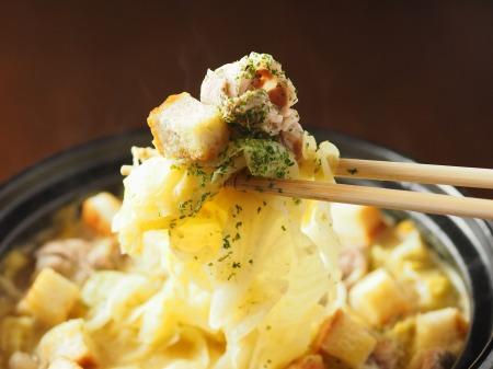 キャベツと豚肉のクリーム鍋035