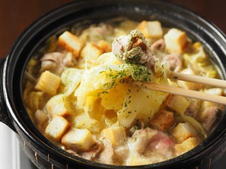 キャベツと豚肉のクリーム鍋030