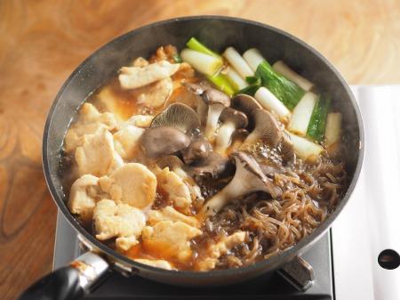 鶏むね肉とヒラタケのすき焼き026