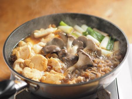 鶏むね肉とヒラタケのすき焼き031