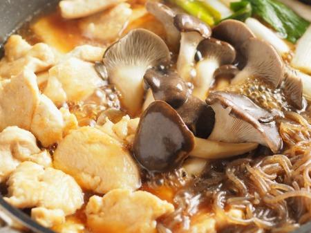 鶏むね肉とヒラタケのすき焼き040