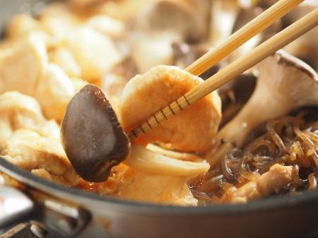 鶏むね肉とヒラタケのすき焼き034