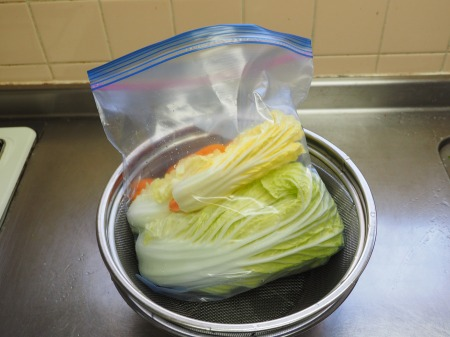 白菜の焼酎漬け、生ハム巻き044