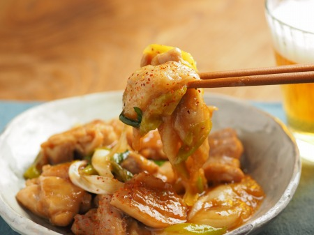 鶏餅炒め021