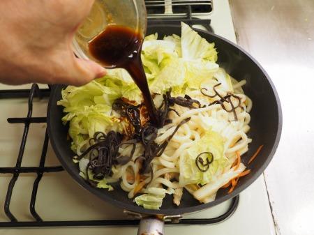 たっぷり白菜の大盛り焼きうど042