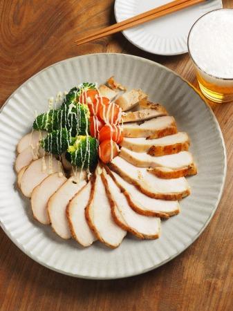 鶏むね肉のゆず胡椒ぽん酢焼016