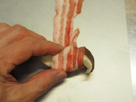 ヒラタケの豚バラ巻き029