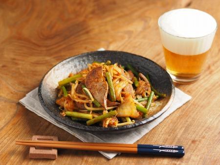 豚レバーのキムチ炒め013