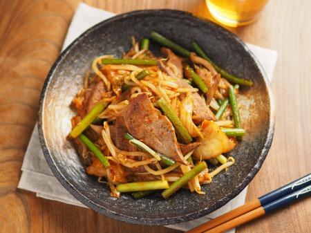 豚レバーのキムチ炒め016