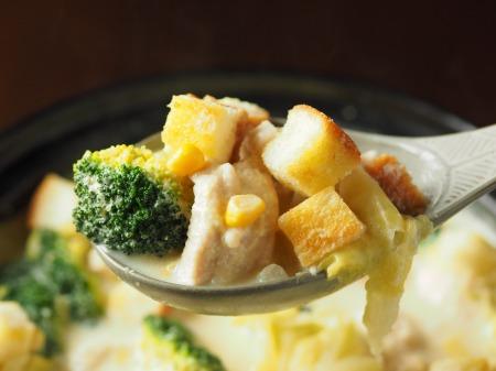 鶏むね肉のコーンクリーム鍋046
