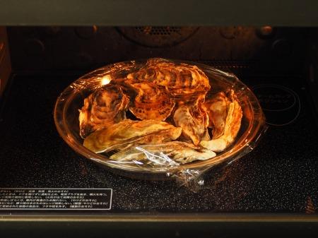レンジ蒸し牡蠣14