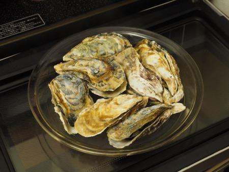 レンジ蒸し牡蠣16