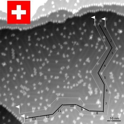 優勝したスイス・バーゼル大チームの走行履歴
