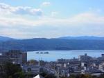 松江城から見た宍道湖