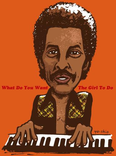 Allen Toussaint caricature likeness